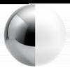 Chrome/White