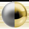 Platinum/Polished Brass