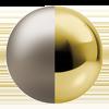Satine/Polished Brass